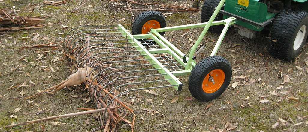 Pull Behind Rake For Lawn Tractor : Lawn rakes landscape rake for tractor australia